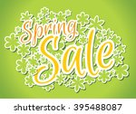 green spring sale banner with... | Shutterstock .eps vector #395488087