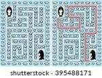 easy penguin maze for younger... | Shutterstock .eps vector #395488171