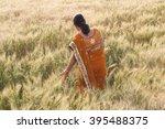 beautiful happy indian woman in ... | Shutterstock . vector #395488375