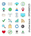set of 24 internet icons | Shutterstock .eps vector #395488525