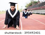 young graduation ready to race ... | Shutterstock . vector #395492401