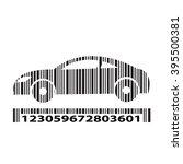 car as barcode    vector... | Shutterstock .eps vector #395500381