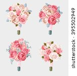 set of wedding bouquets | Shutterstock .eps vector #395502949