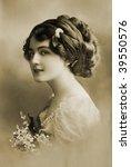 Beautiful Girl In 1910