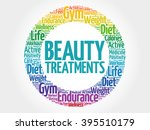 beauty treatments circle stamp... | Shutterstock . vector #395510179