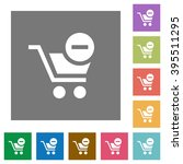 remove from cart flat icon set...