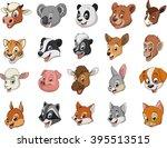 funny kids animals.vector... | Shutterstock .eps vector #395513515