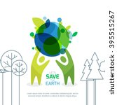 people holding green earth.... | Shutterstock .eps vector #395515267