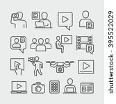video blogger vector icons  | Shutterstock .eps vector #395522029