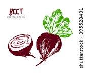 sketched vegetable illustration ...   Shutterstock .eps vector #395528431