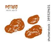 sketched vegetable illustration ... | Shutterstock .eps vector #395529631