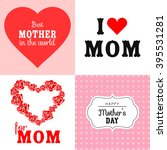 happy mothers day cards vintage ... | Shutterstock .eps vector #395531281