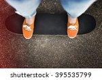 balance board exercise movement ... | Shutterstock . vector #395535799