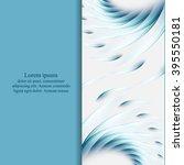 abstract vector flyer design... | Shutterstock .eps vector #395550181