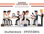 business coffee break. people... | Shutterstock .eps vector #395553841