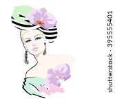 abstract watercolor portrait of ...   Shutterstock .eps vector #395555401