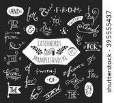 big set of handdrawn ampersands ... | Shutterstock . vector #395555437