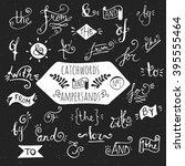big set of handdrawn ampersands ... | Shutterstock . vector #395555464