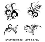 floral design elements | Shutterstock .eps vector #39555787