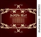 vintage frame   Shutterstock .eps vector #39555853