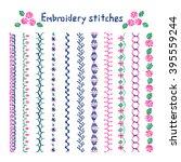 cross stitch pattern for... | Shutterstock .eps vector #395559244