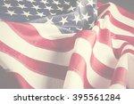 american flag background | Shutterstock . vector #395561284