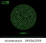 futuristic technology sphere... | Shutterstock .eps vector #395562559
