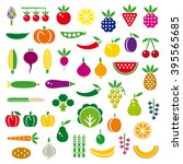 vegetables  berries and fruits... | Shutterstock .eps vector #395565685