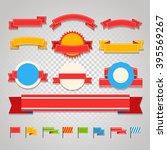 different vintage ribbons set... | Shutterstock .eps vector #395569267