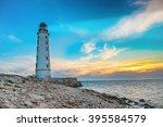 lighthouse searchlight beam... | Shutterstock . vector #395584579
