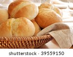 Basket Of Freshly Baked Dinner...