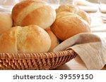 Basket Of Freshly Baked Dinner...