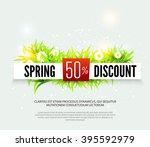 spring discount. sale... | Shutterstock .eps vector #395592979