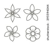 jasmine flower icons set on... | Shutterstock .eps vector #395594044