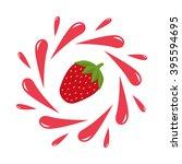 Strawberry Juice Splash. Red...