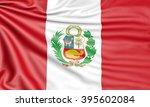 flag of peru  3d illustration... | Shutterstock . vector #395602084