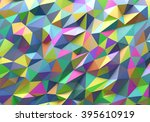 abstract colorful triangle... | Shutterstock . vector #395610919