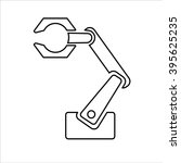 mechanical robotic arm vector... | Shutterstock .eps vector #395625235