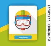worker helmet flat icon   Shutterstock .eps vector #395625715