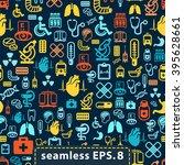medical icons seamless.eps8. | Shutterstock .eps vector #395628661