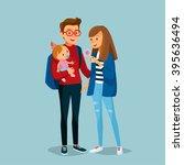 parents nurture baby | Shutterstock .eps vector #395636494