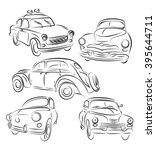 retro classic cars. | Shutterstock .eps vector #395644711