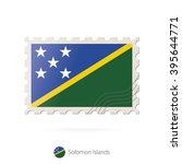 postage stamp with the image of ... | Shutterstock .eps vector #395644771