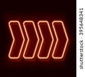 Neon Arrow Pointer On A Black...