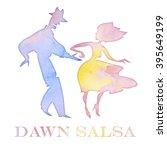 salsa dancer watercolor... | Shutterstock . vector #395649199