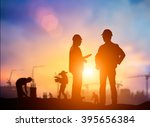 silhouette successful male... | Shutterstock . vector #395656384