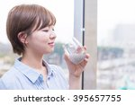 asian woman with chia seed | Shutterstock . vector #395657755