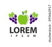 fruit apple grapes logo | Shutterstock .eps vector #395663917