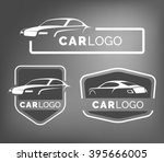 set of modern car emblems ... | Shutterstock .eps vector #395666005