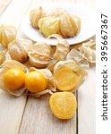 Closeup Organic Cape Gooseberry ...